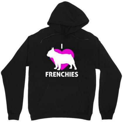 I Love Frenchies French Bulldog Unisex Hoodie Designed By Alaska Tees