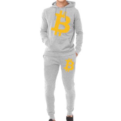 Bitcoin Logo Hoodie & Jogger Set Designed By Mdk Art