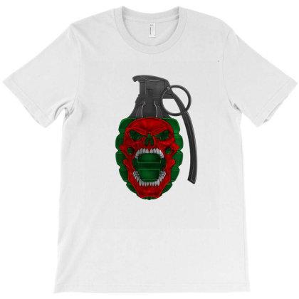 Skull Grenade T-shirt Designed By Andytattoo