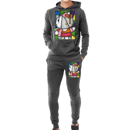 Hello Picasso Kitty Hoodie & Jogger Set Designed By Mdk Art