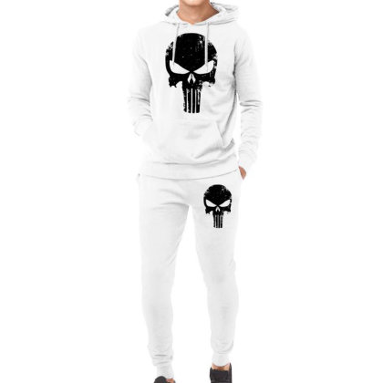 The Punisher Skull Black Hoodie & Jogger Set Designed By Constan002