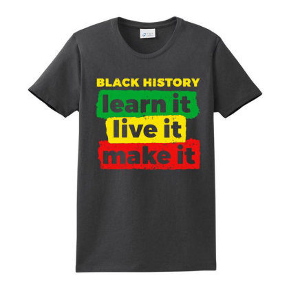 Learn Live Make African Ladies Classic T-shirt Designed By La Bold