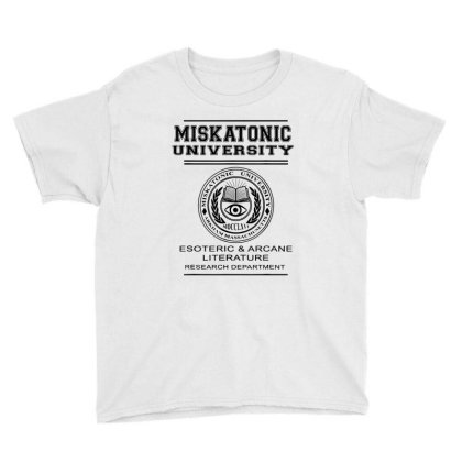 Miskatonic University Esoteric Literature Department Youth Tee Designed By La Bold