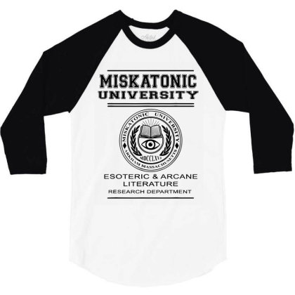 Miskatonic University Esoteric Literature Department 3/4 Sleeve Shirt Designed By La Bold