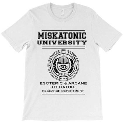 Miskatonic University Esoteric Literature Department T-shirt Designed By La Bold