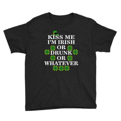 Kiss Me, I'm Irish Youth Tee Designed By Amber Petty