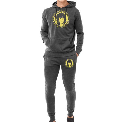 Keith Richards For President Hoodie & Jogger Set Designed By Hezz Art