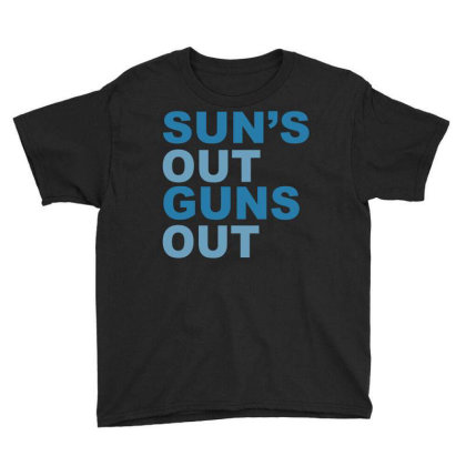 Sun's Out Guns Out Youth Tee Designed By Suryanaagus
