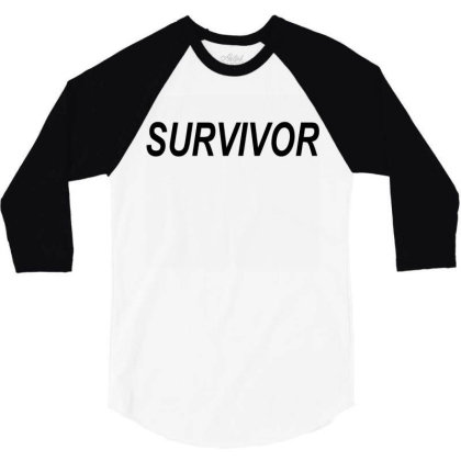 Survivor 3/4 Sleeve Shirt Designed By Suryanaagus