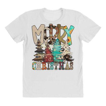Merry Christmas Trees Christmas Light All Over Women's T-shirt Designed By Badaudesign