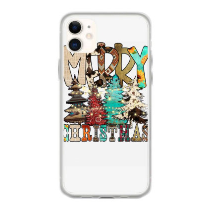 Merry Christmas Trees Christmas Light Iphone 11 Case Designed By Badaudesign