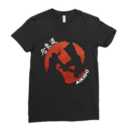 Aikido Ladies Fitted T-shirt Designed By Lumlum