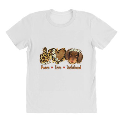 Peace Love Dachshund All Over Women's T-shirt Designed By Apollo