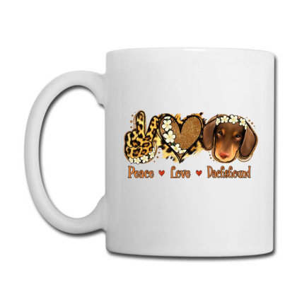 Peace Love Dachshund Coffee Mug Designed By Apollo