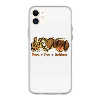 Peace Love Dachshund Iphone 11 Case Designed By Apollo
