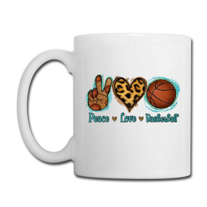 Peace Love Basketball Coffee Mug Designed By Apollo