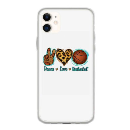 Peace Love Basketball Iphone 11 Case Designed By Apollo