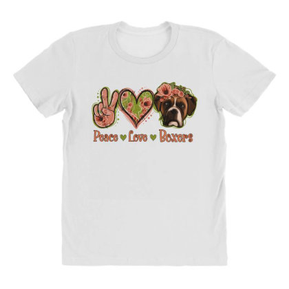 Peace Love Boxer All Over Women's T-shirt Designed By Apollo