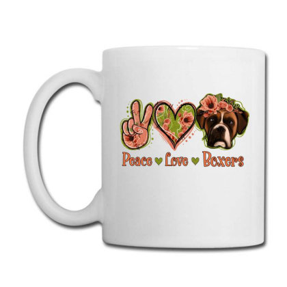 Peace Love Boxer Coffee Mug Designed By Apollo