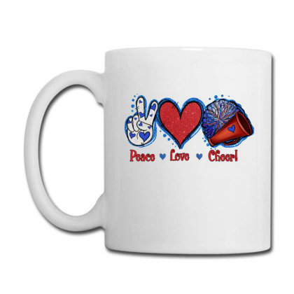 Peace Love Cheer Coffee Mug Designed By Apollo