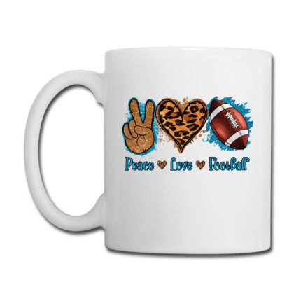 Peace Love Football Coffee Mug Designed By Apollo