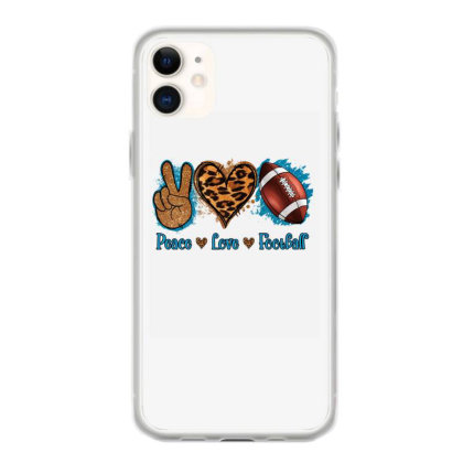Peace Love Football Iphone 11 Case Designed By Apollo