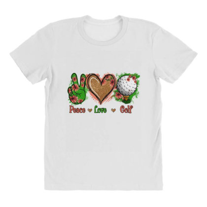 Peace Love Golf All Over Women's T-shirt Designed By Apollo