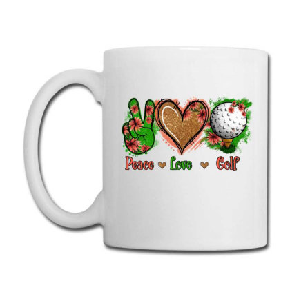Peace Love Golf Coffee Mug Designed By Apollo