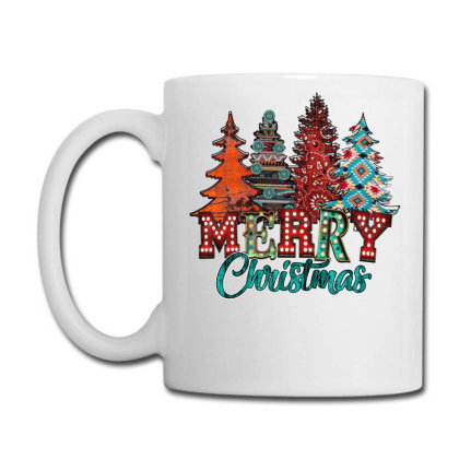 Merry Christmas Trees Rusty Coffee Mug Designed By Badaudesign