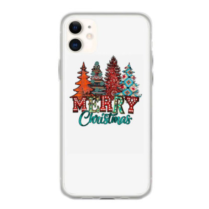 Merry Christmas Trees Rusty Iphone 11 Case Designed By Badaudesign