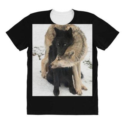 Animal Lover All Over Women's T-shirt Designed By Entiregems