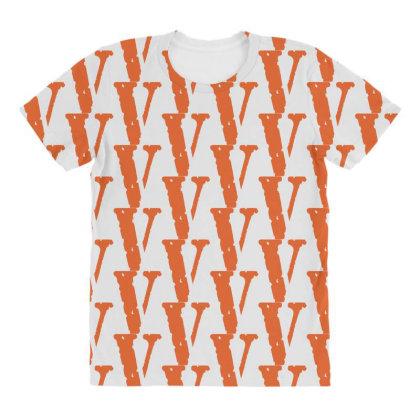 V As Vlone Orange All Over Women's T-shirt Designed By Şen