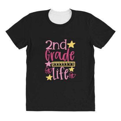2nd Grade Life All Over Women's T-shirt Designed By Kahvel