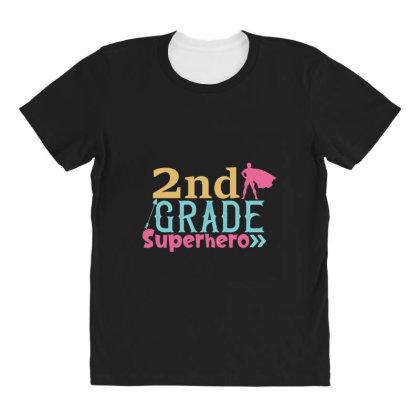 2nd Grade Superhero Color All Over Women's T-shirt Designed By Kahvel