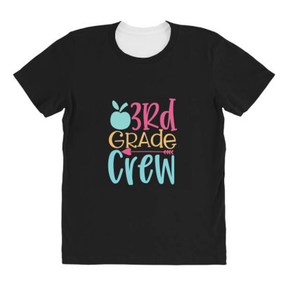 3rd Grade Crew All Over Women's T-shirt Designed By Kahvel