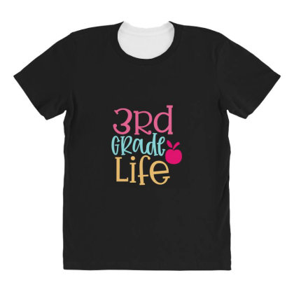 3rd Grade Life Design All Over Women's T-shirt Designed By Kahvel