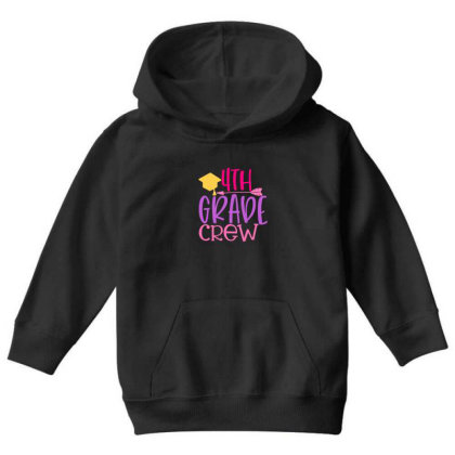 4th Grade Crew Youth Hoodie Designed By Kahvel