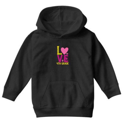 4th Grade Love Youth Hoodie Designed By Kahvel