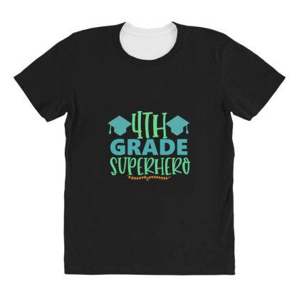 4th Grade Superhero All Over Women's T-shirt Designed By Kahvel