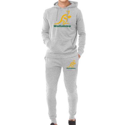 Wallabies Gold Logo Hoodie & Jogger Set Designed By Mdk Art