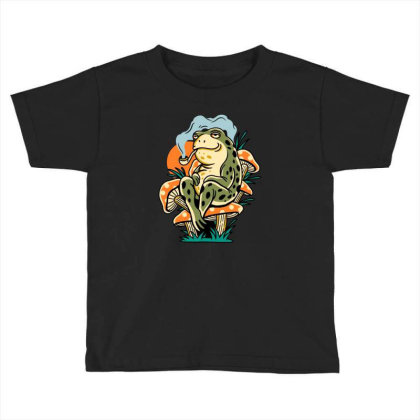 Chill Frog Toddler T-shirt Designed By Onzin
