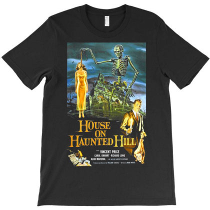 House On Haunted Hill T-shirt Designed By Activoskishop