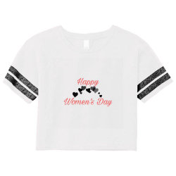 Happy Women's Day Scorecard Crop Tee Designed By Hu