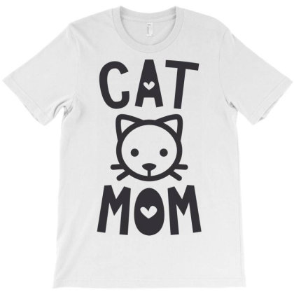 Cat Mom T-shirt Designed By Ombredreams