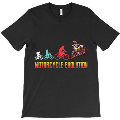 Motorcycle Evolution T-shirt Designed By Wizarts