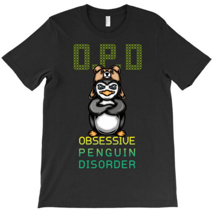 Obsessive Penguin Disorder T-shirt Designed By Wizarts