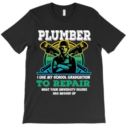 Plumber T-shirt Designed By Wizarts