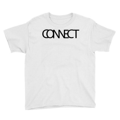 Connect Typography Youth Tee Designed By L4l4pow