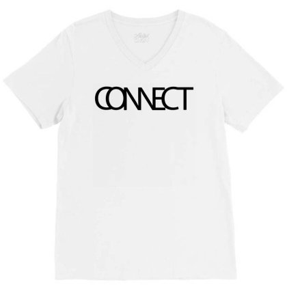 Connect Typography V-neck Tee Designed By L4l4pow