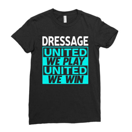 Dressage Ladies Fitted T-shirt Designed By L4l4pow